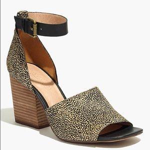 Madewell ALENA Sandal Spotted Calf hair heels